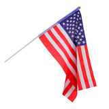 American Flag isolated on white Royalty Free Stock Photo