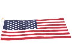American flag. Isolated on white background Stock Image