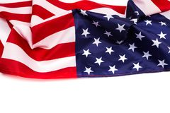 American flag isolated on white background royalty free stock images