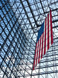 American Flag at the John F Kennedy Library stock images