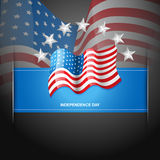 American flag label Royalty Free Stock Photography