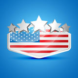 American flag label Stock Photo