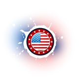 American flag label Royalty Free Stock Image