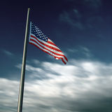 American flag in long exposure photography stock photo