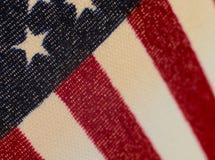 American flag macro shot 1 Royalty Free Stock Photo