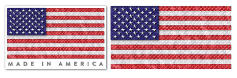 American Flag. Made In America USA Royalty Free Stock Images