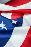 American flag made of silk Royalty Free Stock Photography