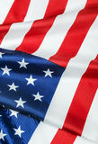 American flag made of silk Royalty Free Stock Image