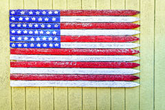 American flag. Made from wood planks in Leland, Michigan Royalty Free Stock Image