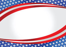 American Flag  map Royalty Free Stock Images