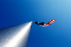 American flag on a metal pole Royalty Free Stock Photo