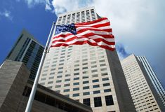 American Flag In Miami Royalty Free Stock Photo
