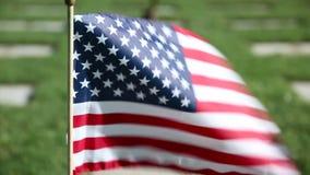 American flag at Military Memorial Cemetery