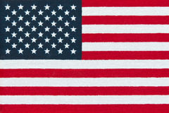 American  Flag.  Miniature  version printed in bright colors on Stock Images