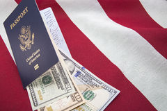 American flag money currency We the People royalty free stock photos