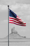 American flag at Monument Valley Royalty Free Stock Photography