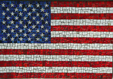 American Flag in Mosaic Stock Photos