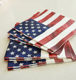 American flag napkins Royalty Free Stock Photos