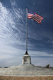 American Flag at National Cemetery Royalty Free Stock Photos