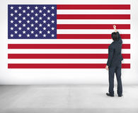 American Flag Nationality Liberty Country Concept Stock Images