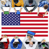 American Flag Nationality Liberty Country Concept Royalty Free Stock Image