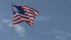 American flag in New York stock footage