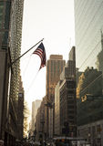 American Flag in New York City Royalty Free Stock Photography