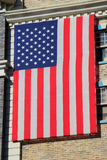 American flag on New York - New York hotel and casino building, Royalty Free Stock Photography