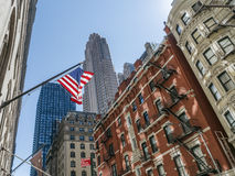 American flag in New York Stock Photo