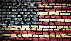 American flag on old background retro effect Stock Photo