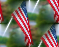 American flag old glory liberty hudson river patriotic collage tribute Stock Photo