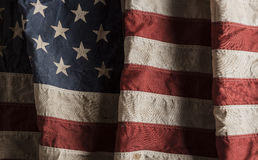 American flag old and worn Royalty Free Stock Photography
