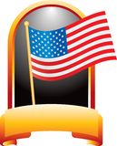 American flag in orange display Royalty Free Stock Image