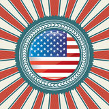 American flag. Over lines background vector illustration Vector Illustration