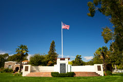 The American Flag over Memorial Cemetery Stock Images