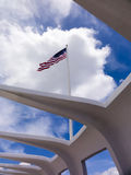 American Flag Over Pearl Harbor Royalty Free Stock Photos