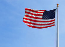 American Flag over Sky Royalty Free Stock Photography
