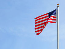 American Flag over Sky Royalty Free Stock Images