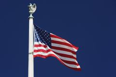 American Flag Over Supreme Court Stock Image