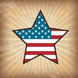 American flag. Over vintage, stars, background vector illustration Vector Illustration