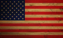 American flag overlaid with grunge texture - Image stock photos