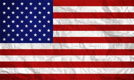 American flag overlaid with grunge texture - Image stock photo