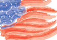 American Flag in paint brush Stock Image