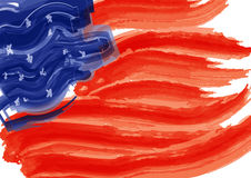 American Flag in paint brush Stock Photo