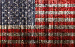 American flag painted on old wood Stock Photos