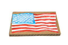 American Flag painted on paper Royalty Free Stock Photo