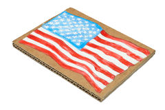 American Flag painted on paper Stock Photography