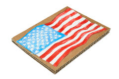 American Flag painted on paper Stock Photo