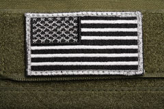 American flag patch stock photos
