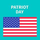 American flag Patriot Day background flat design Card Stock Photo